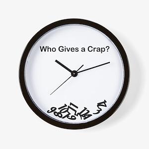Who Gives A Crap Wall Clock
