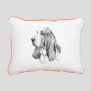 Basset Hound Rectangular Canvas Pillow