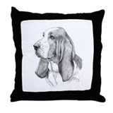 Basset hound Cotton Pillows