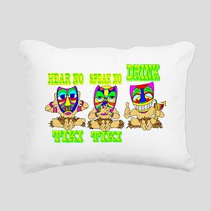 TIKI1 Rectangular Canvas Pillow