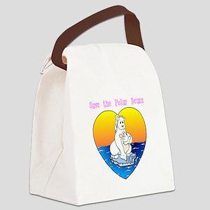 polar1 Canvas Lunch Bag