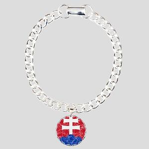 Slovakia Roundel Charm Bracelet, One Charm