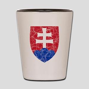 Slovakia Roundel Shot Glass