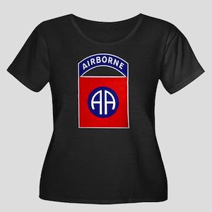 82nd Air Women's Plus Size Scoop Neck Dark T-Shirt