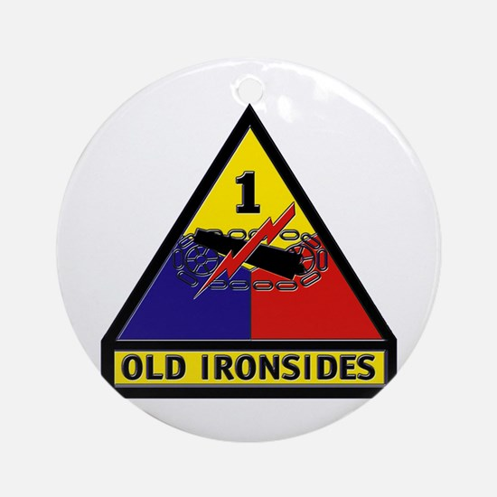 1st Armored Division Ornament (Round)