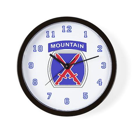 10 Mountain Division Wall Clock