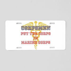 Marine Corps Corpsmen Aluminum License Plate