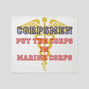 Marine Corps Corpsmen Throw Blanket