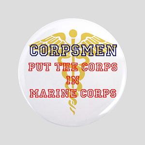 "Marine Corps Corpsmen 3.5"" Button"