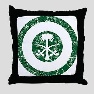 Saudi Arabia Roundel Throw Pillow