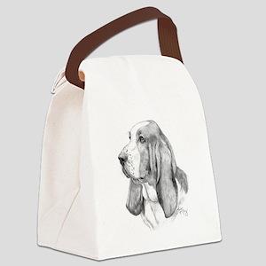 Basset Hound Canvas Lunch Bag