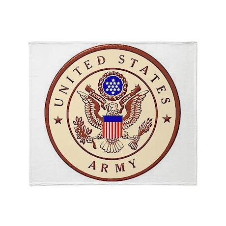 Army Sandbox Logo Throw Blanket