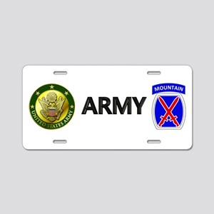 10th Mountain Aluminum License Plate