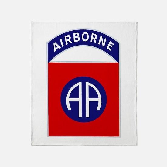 82nd Airborne Throw Blanket