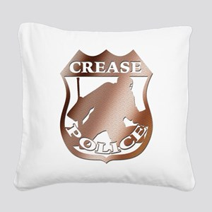 Hockey Crease Police Square Canvas Pillow