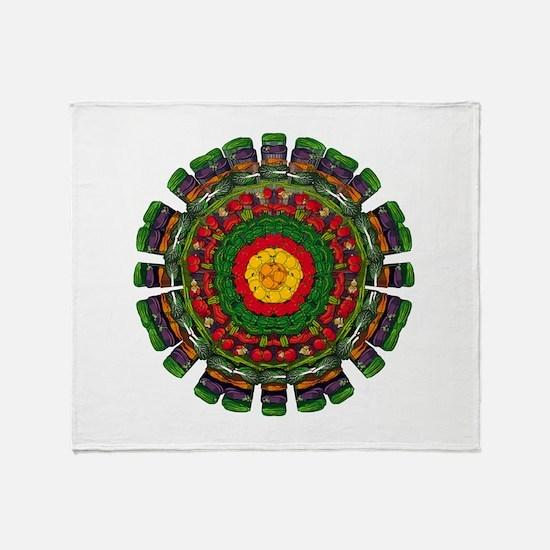 Vegetarian Mandala Throw Blanket