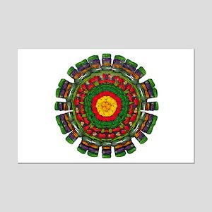 Vegetarian Mandala Mini Poster Print