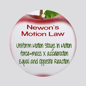 Newton's Motion Laws Ornament (Round)