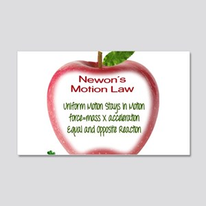 Newton's Motion Laws 20x12 Wall Decal