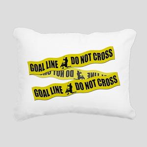 Lacrosse Goalie Crime Tape Rectangular Canvas Pill