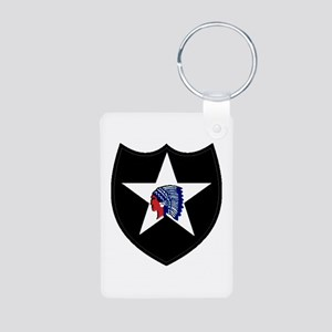 2nd Infantry Division Aluminum Photo Keychain