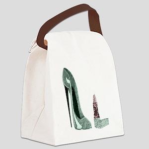 Green stiletto and lipstick copy copy Canvas L