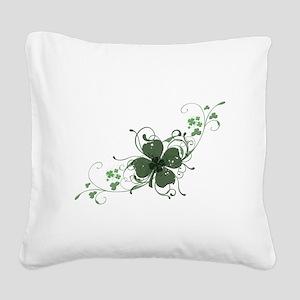 Elegant Shamrock Design Square Canvas Pillow