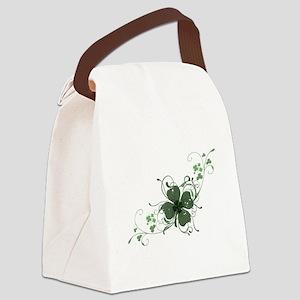 Elegant Shamrock Design Canvas Lunch Bag
