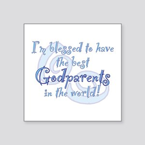 "Blessed Godparent BL Square Sticker 3"" x 3"""