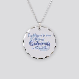 Blessed Godparent BL Necklace Circle Charm