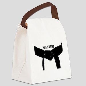 Martial Arts Black Belt Master Canvas Lunch Bag