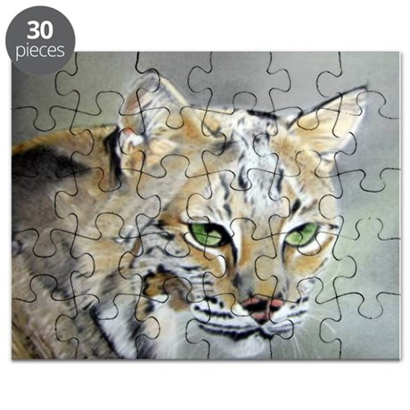 Bobcat - Pastel Drawing Puzzle