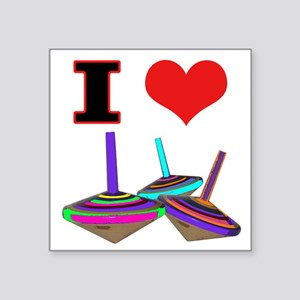 "I Love Tops Square Sticker 3"" x 3"""