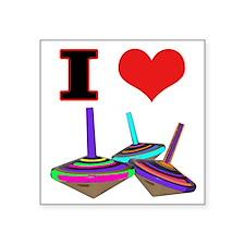 I Love Tops Square Sticker 3