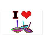 I Love Tops Sticker (Rectangle 10 pk)