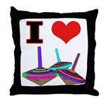 I Love Tops Throw Pillow