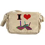 I Love Tops Messenger Bag
