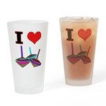 I Love Tops Drinking Glass