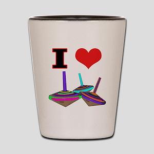 I Love Tops Shot Glass