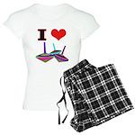 I Love Tops Women's Light Pajamas