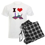 I Love Tops Men's Light Pajamas