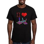I Love Tops Men's Fitted T-Shirt (dark)