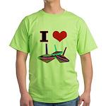 I Love Tops Green T-Shirt