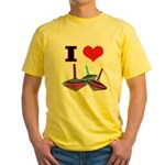 I Love Tops Yellow T-Shirt