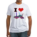 I Love Tops Fitted T-Shirt