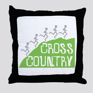 Cross Country Runners Throw Pillow