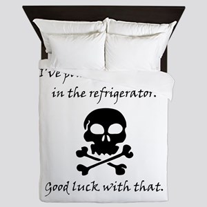 Poisoned Refrigerator Skull Queen Duvet