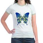 Samadhi Butterfly Jr. Ringer T-Shirt