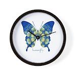 Samadhi Butterfly Wall Clock