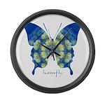 Samadhi Butterfly Large Wall Clock